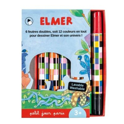 Tuschpennor 6 st - Elmer - Petit Jour