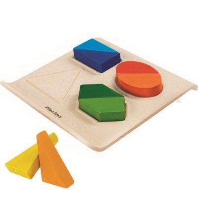 Pussel - form och färger - ekologisk från PlanToys