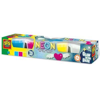 Lera - 4 st - Neon och lyser i mörkret - SES creative