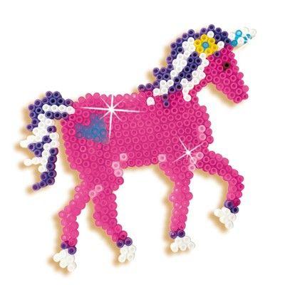 Pärlplattor stort set - prinsessor och enhörningar - 2100 pärlor - SES Creative