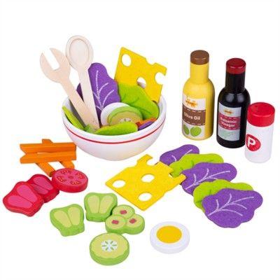 Leksaksmat - Salladsset med olja & dressing - Bigjigs