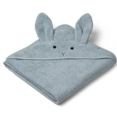 Handduk med luva, Junior - Augusta Rabbit sea blue - Ekologisk från Liewood