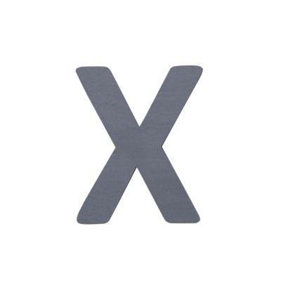 Bokstav i trä - X - grå - Sebra