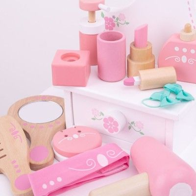 Necessär med innehåll - rosa - Bigjigs