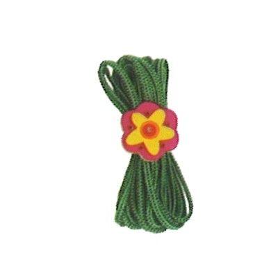 Twistband - grönt med blomma