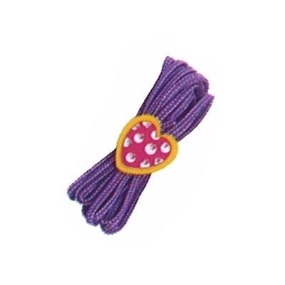 Twistband - lila med hjärta
