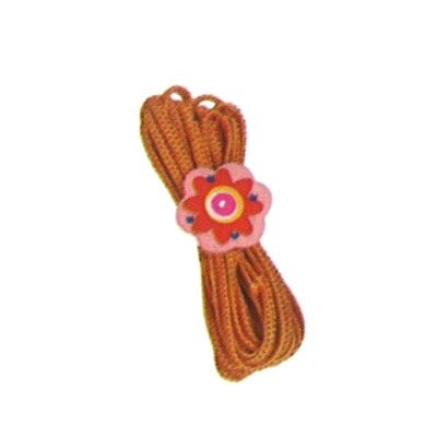 Twistband - orange med blomma