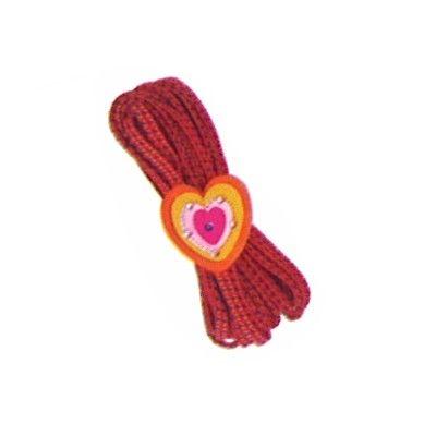 Twistband - rött med hjärta