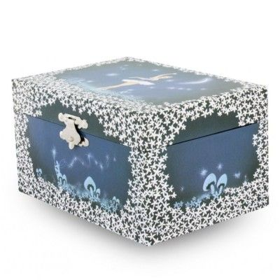 Smyckeskrin med speldosa - Blå ballerina